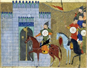 Genghis Khan entering Beijing
